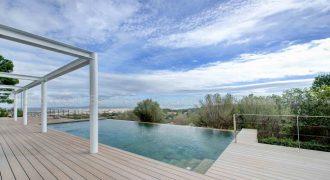 Neue Luxusvilla in Son Vida mit atemberaubendem Blick auf die Bucht von Palma
